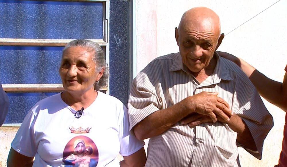 Seu Antônio e Dona Josefa, em Ituverava, SP (Foto: Carlos Trinca/EPTV)