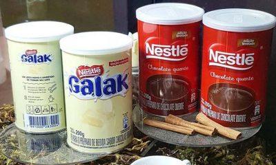 galak e chocolate em pó nestlé
