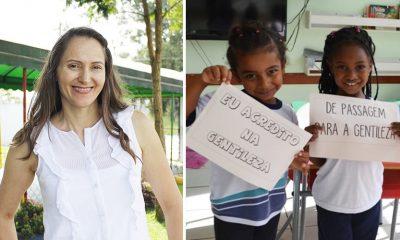 professora de jundiaí ensina gentileza a alunos