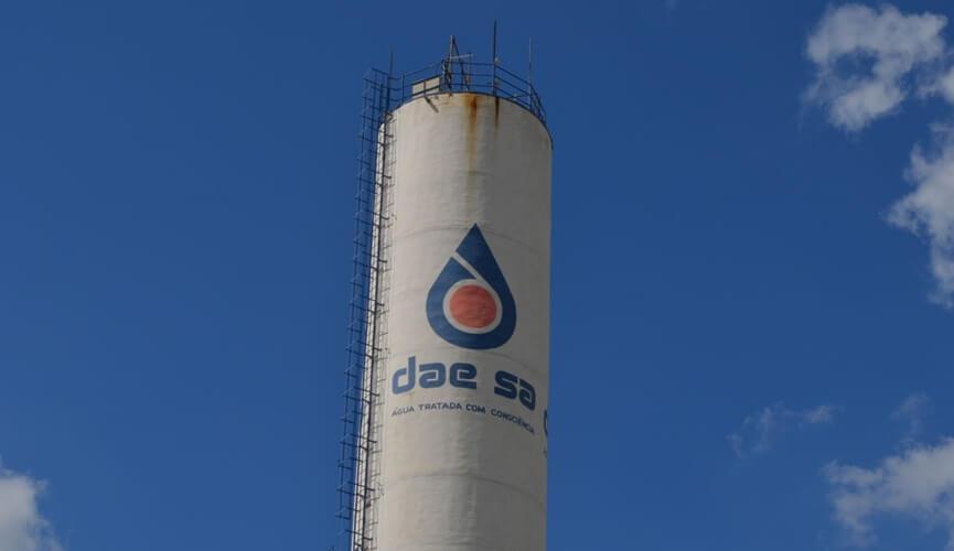Reservatório da DAE no Residencial Jundiaí I passa por limpeza nesta quinta-feira