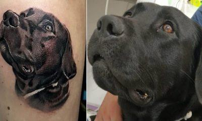 Soldado homenageia o cachorro Barney