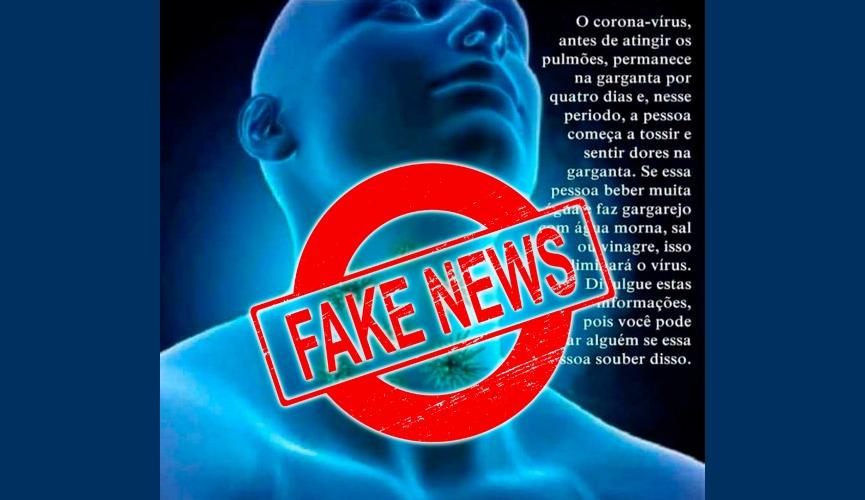 Fiocruz desmente fake news sobre o coronavírus